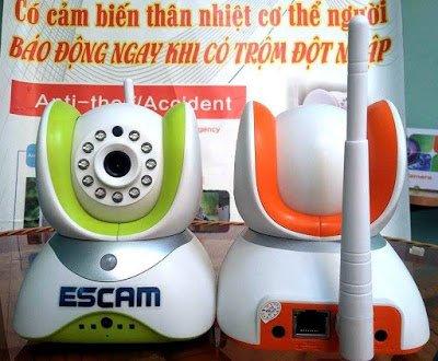 camera IP KHÔNG DÂY Cảm Biến Thân Nhiệt Chống Trộm Giá Rẻ -Cực Nét - camera binh thuan