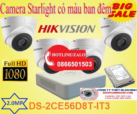 Trọn bộ Camera Starlight Có Màu Ban Đêm